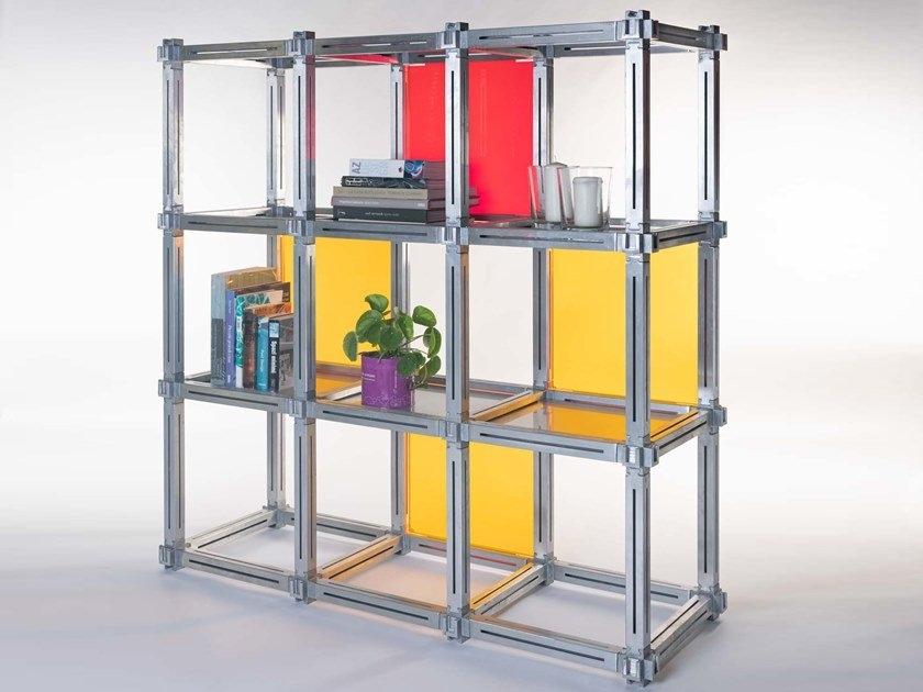acrylic glass bookcase