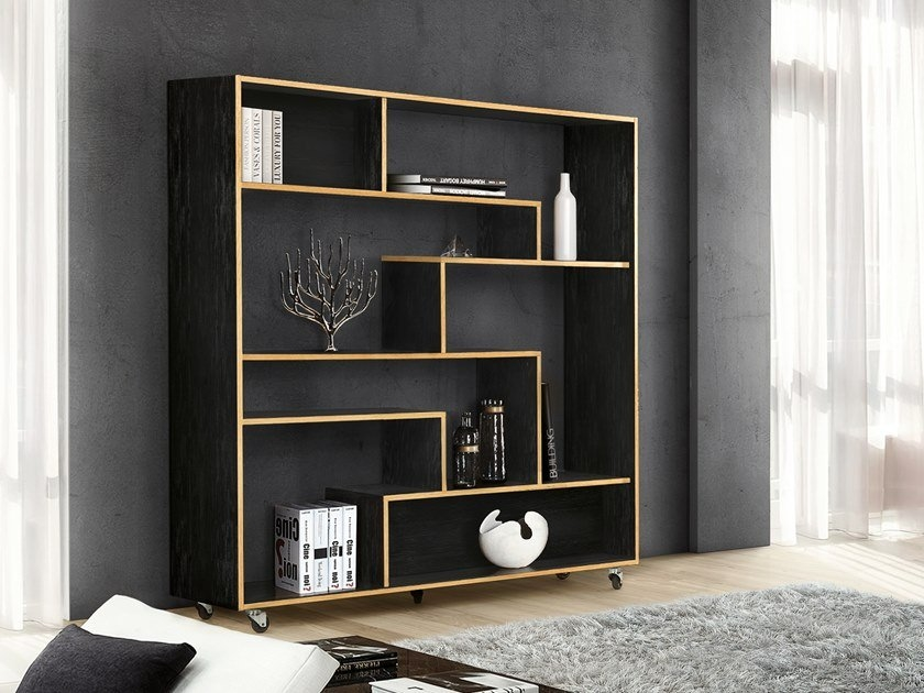 bookcase with casters