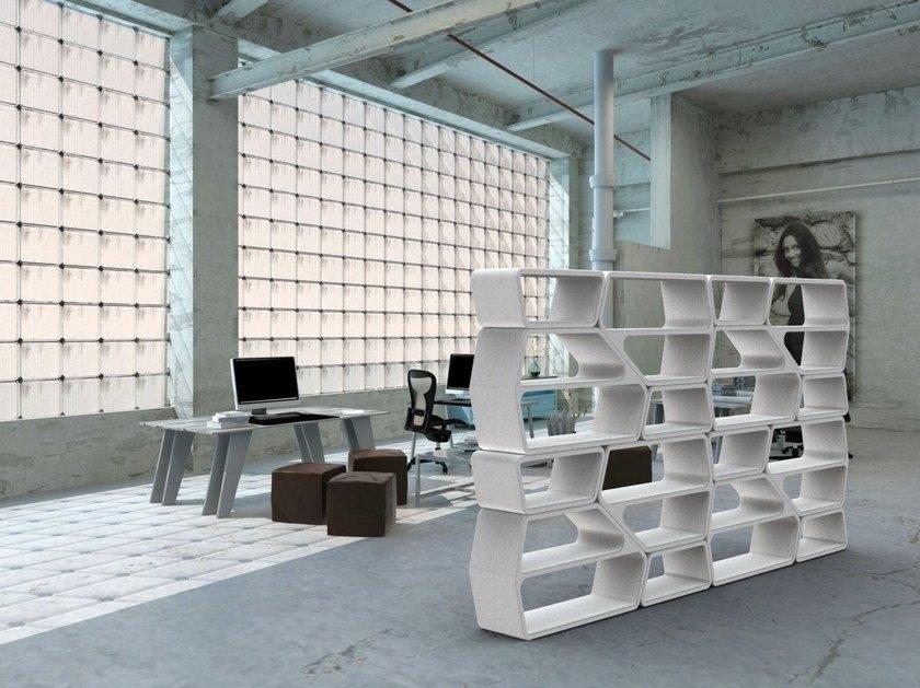 concrete bookcase