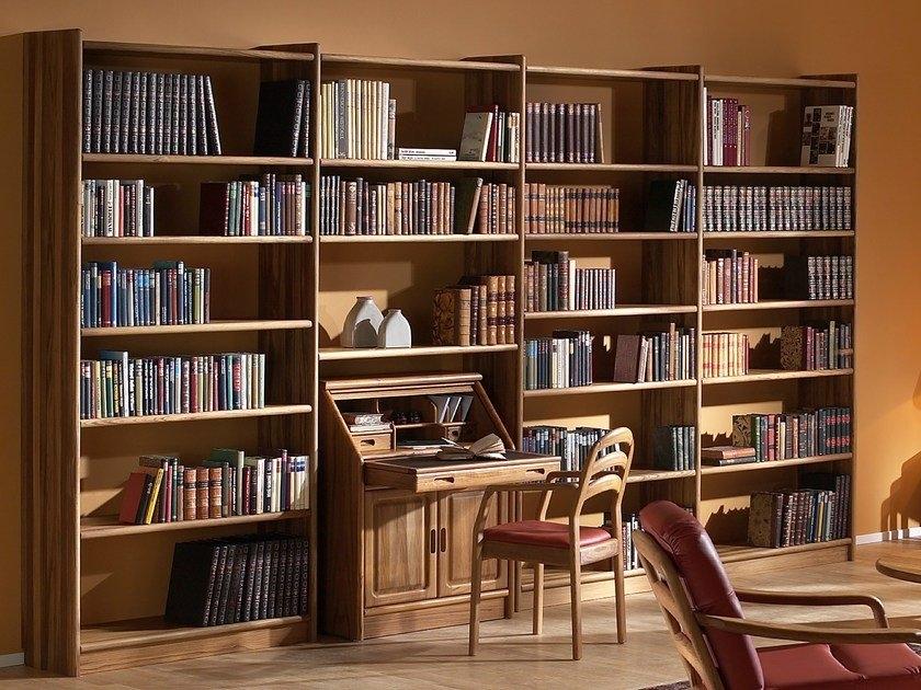 bookcase with secretary desk