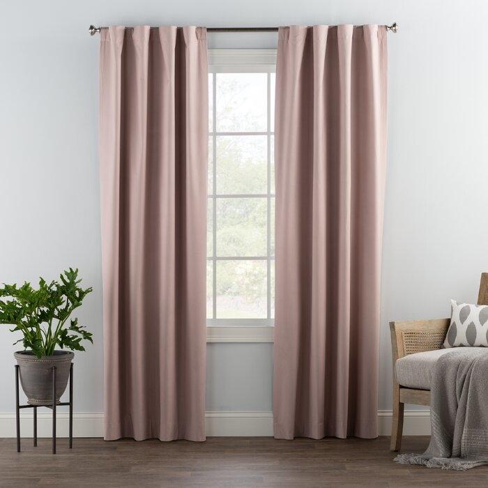 Hidden tab curtain attachment