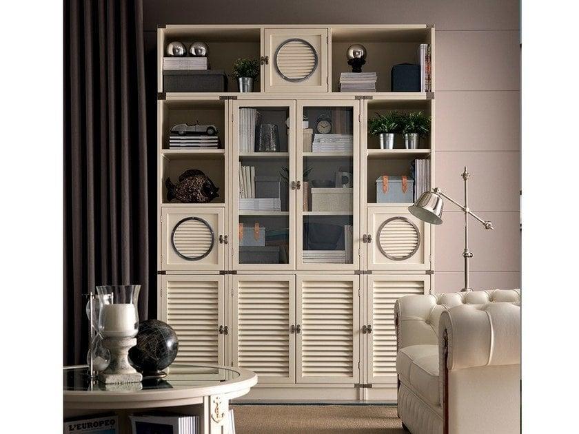 navy style bookcase