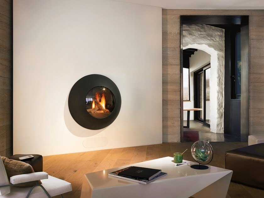 panoramic glass fireplace
