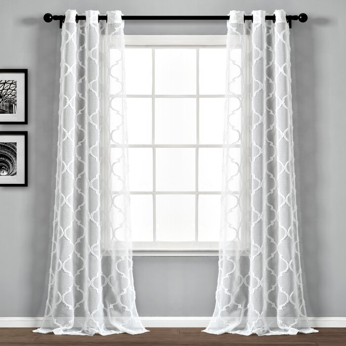 Puddle length curtains