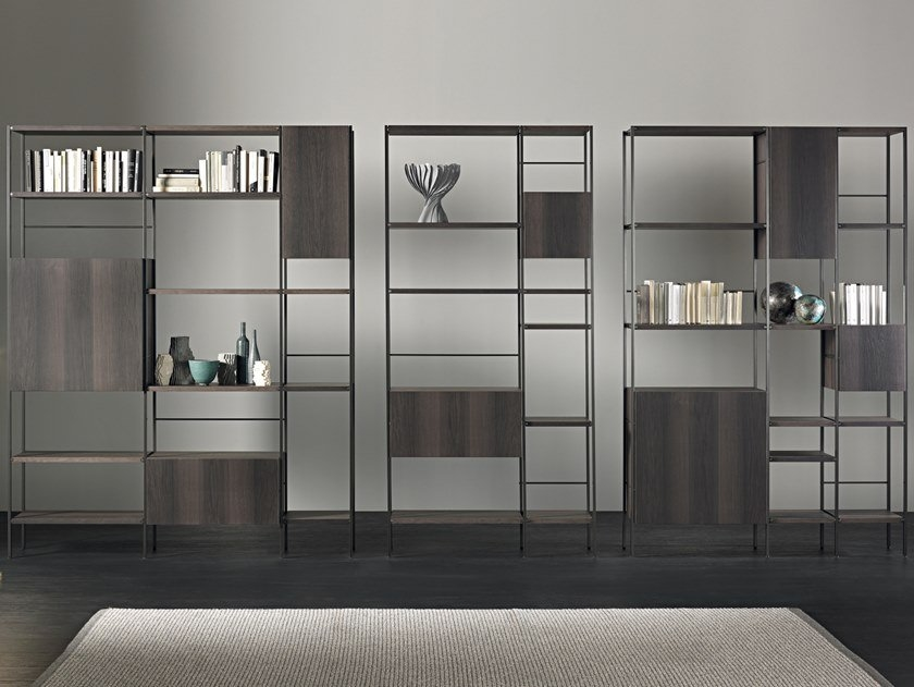 bookcase with shelving units