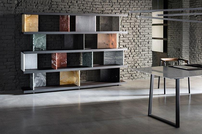 natural stone bookcase