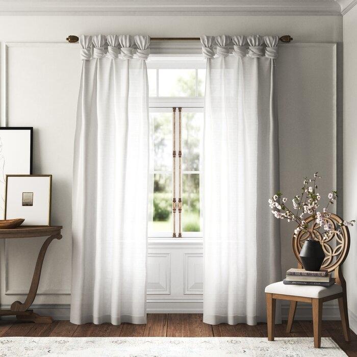 Tab top curtain attachment