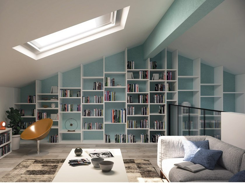 wall-mounted bookcase installation