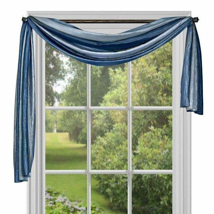 Window scarf curtain type