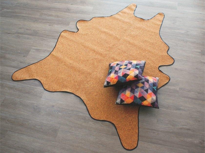 wood material rug